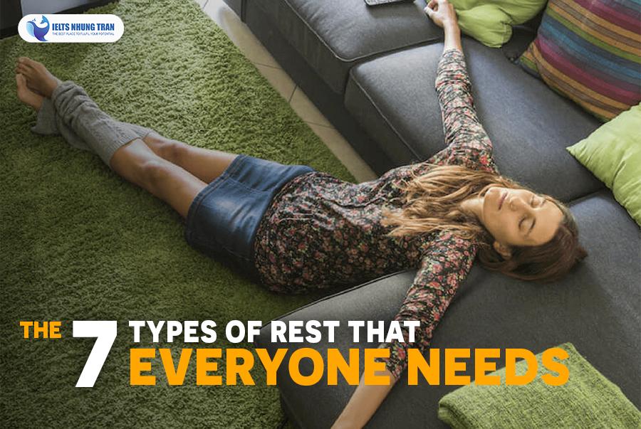 7 cách nghỉ ngơi hợp lí
