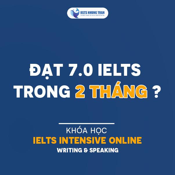 Khóa học online IELTS Intensive